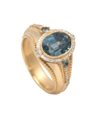 Sapphire Elizabeth Ring Main View