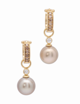 South Sea Latte Pearl and Diamond Drops