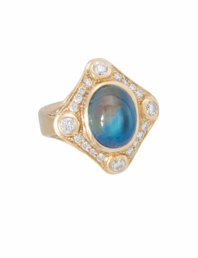 Blue Moonstone Monarch Ring
