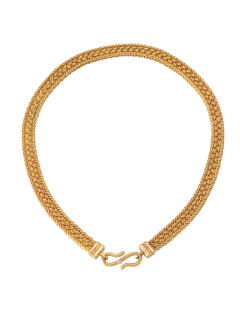 22kt Gold Thai Weave Necklace