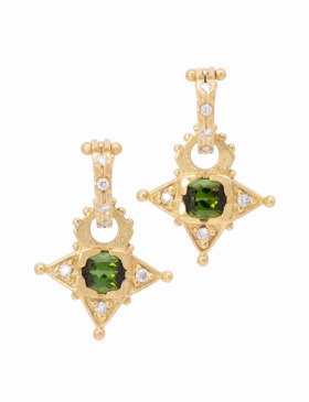 Green Tourmaline Starbright Drops