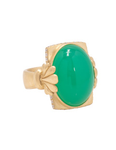 Chrysocolla Scallop Ring