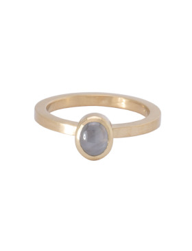 Grey Star Sapphire Be Mine Ring
