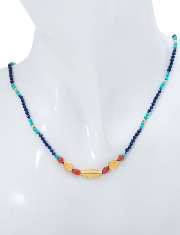 Multi-stone Traveler's  Necklace