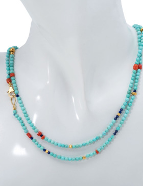 Turquoise Multi-bead Necklace
