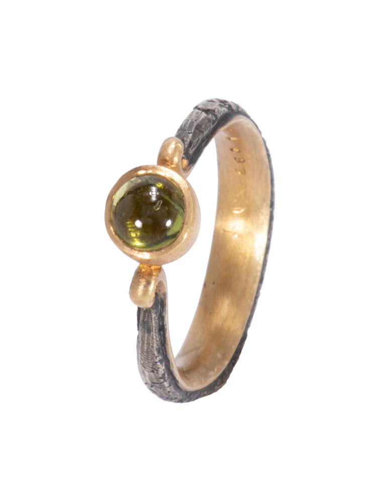 Tourmaline Lyra Ring