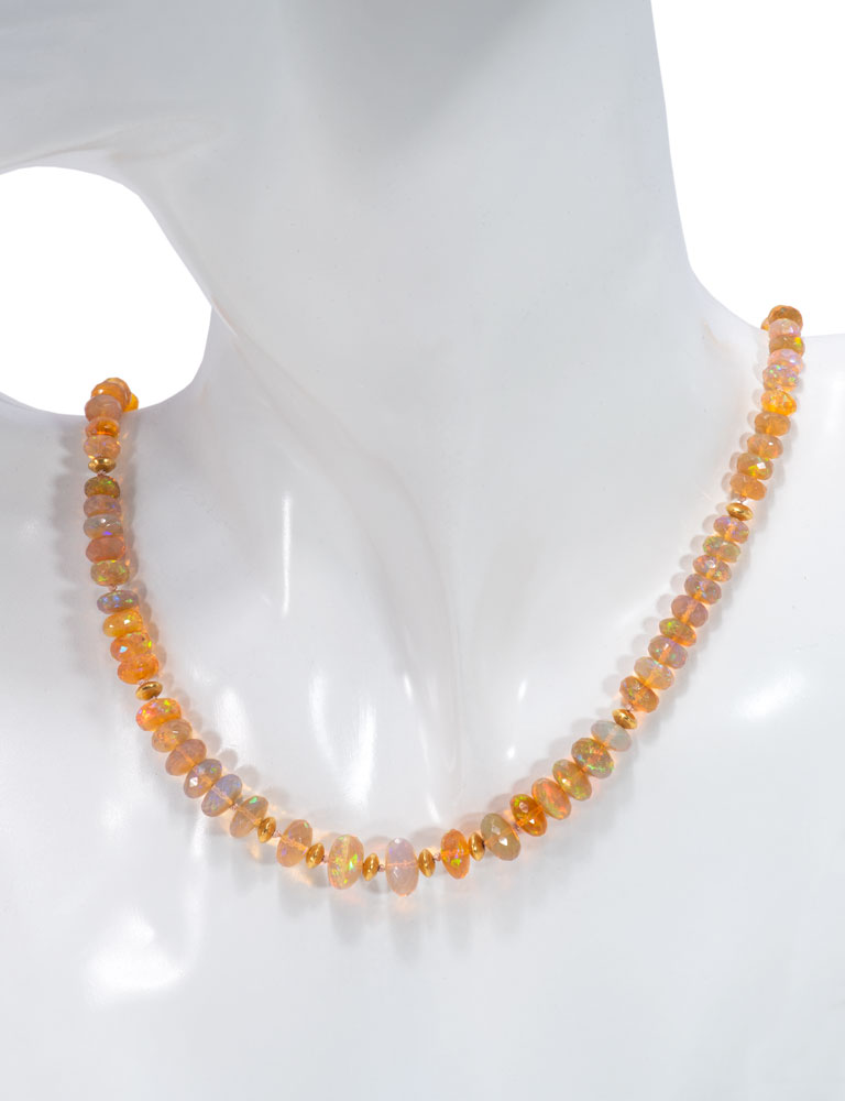 Ethiopian Hydrophane Opal Necklace 20