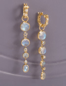 Four-tiered Moonstone and Diamond Drops