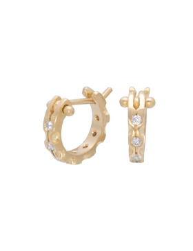 Small White Diamond Cypress Hoops