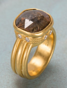 Rose Cut Brown Diamond Ring