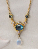 Moonstone Cascade Necklace