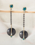 Umbra Earrings with Blue Zircons