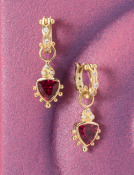 Pink Tourmaline Trillion Drops