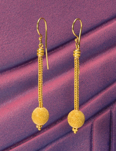 Golden Sphere Earrings