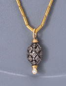 Quilted Micro Pave Diamond Pendant