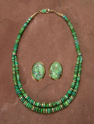 Green Faustite Carico Lake Turquoise Set