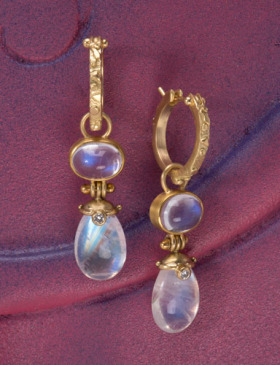Hinged Moonstone Drops