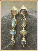 Moonstone Waterfall Earrings