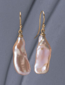 Beaver Tail Pearl Earrings