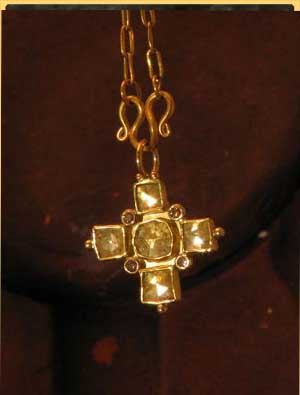 Square Rose Cut Cross