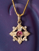 Sophia's Cross with Pink Tourmaline