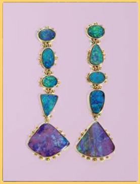 Tiered Opal Earrings