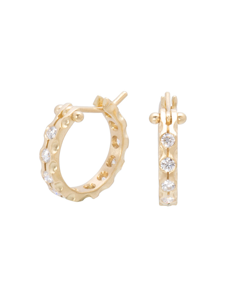 Large White Diamond Cypress Hoops