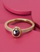Oval Black Diamond Be Mine Ring