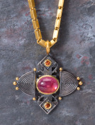 Pink Tourmaline Ashanti Cross