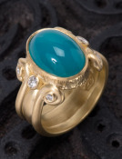 Gem Silica Scroll Ring