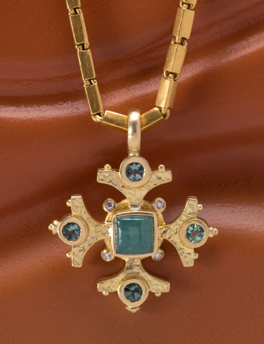 Paraiba Tourmaline Maltese Cross