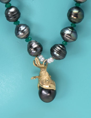 Hang On By All Means Tahitian Pearl Necklace