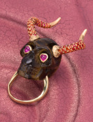 We All Need Love! Horned Skull Ring