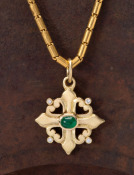 Emerald and Diamond Spanish Cross