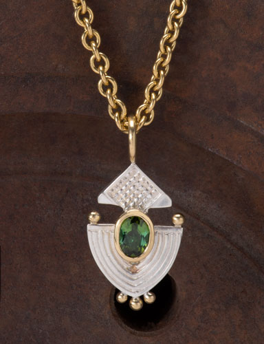 Green Tourmaline  Siren's Anchor