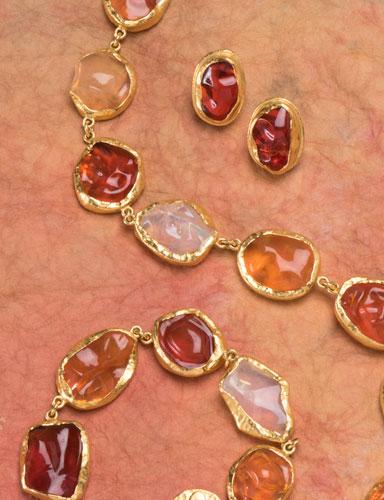 The golden eye fire opal necklace neckwear fire opal necklace aloadofball Choice Image