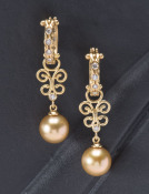 South Sea Pearl and Diamond Fern Drops