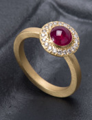 Ruby Starburst Ring