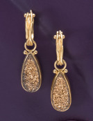 Gold-coated Druzy Drops