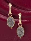 Platinum-coated Oval Druzy Drops