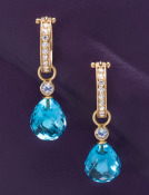 Blue Topaz and Moonstone Drops