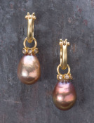 Yangtze River Pearl and Champagne Diamond Drops