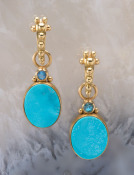 Morenci Turquoise and Blue Zircon Drops