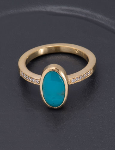Oval Gem Silica Be Mine Ring