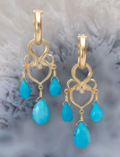 Turquoise Grande Woven Heart Drops