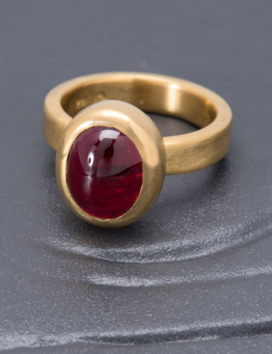 Oval Red Spinel Ring