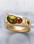 Fire Agate Galactica Ring