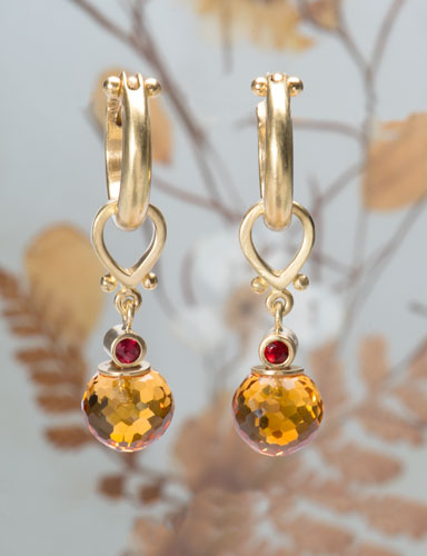 Citrine Sphere Drops