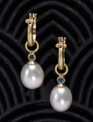 White Pearl and Sapphire Drops
