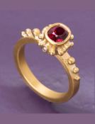 Red Spinel Byzantium Ring